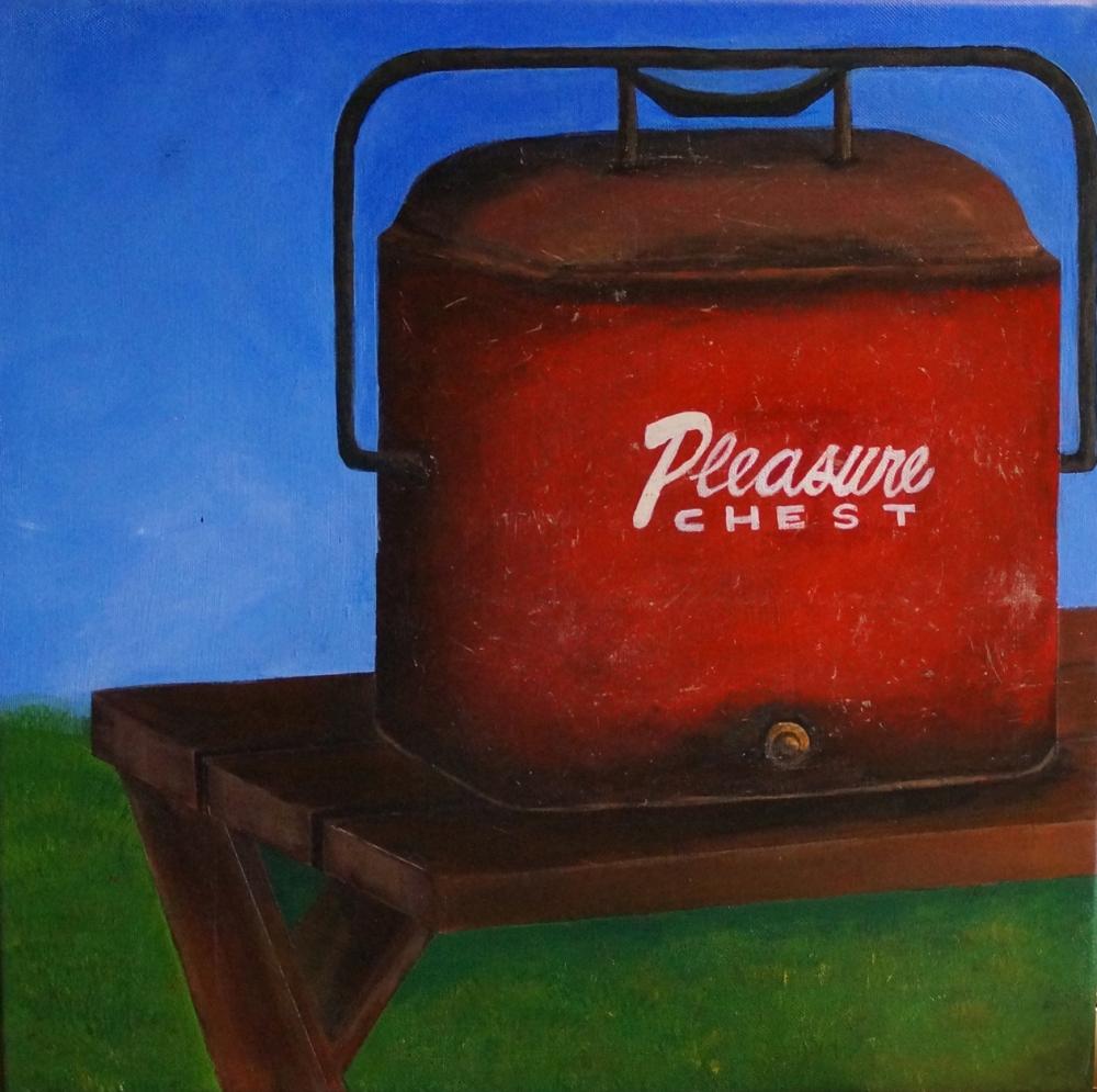 Pleasure Chest; Acrylic on canvas