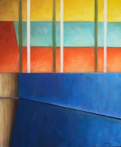 Structural Meditaion 3; pastel on paper. SOLD